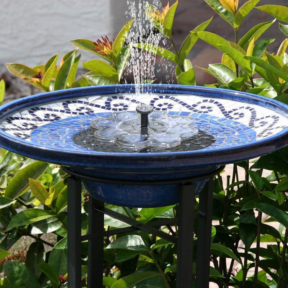 Bomba de Agua Solar,TekHome Fuente Solar , Bomba Solar Para Estanque,Fuente Solar Flotante para Jardin, Fuentes de Agua Decorativas Exterior, Bomba de Agua para Piscina/Estanque.