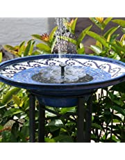TekHome [2019 NEW Solar Water Fountain, Bird Bath Fountain, Solar Water Features for The Garden, Floating Solar Fountain, Solar Panel Water Pump for Pond/Pool, Solar Powered Water Feature.