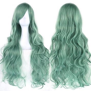 Amazoncom Tsmine Women Fashion Lady Anime Long Curly Wavy Hair