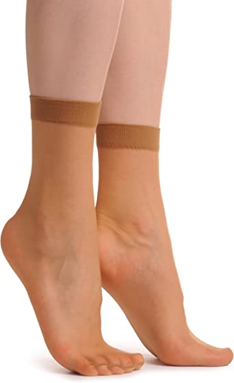 2 x Nude Socks Ankle High 15 Den SO000363