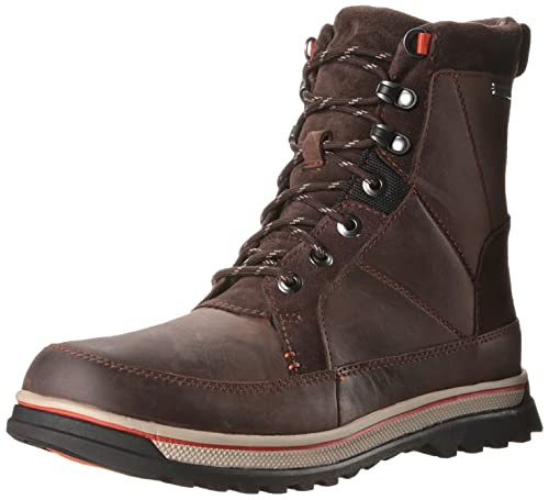 Clarks Men's Ripway Peak GTX Lace-Up Boot, Brown with Lined Leather, 7