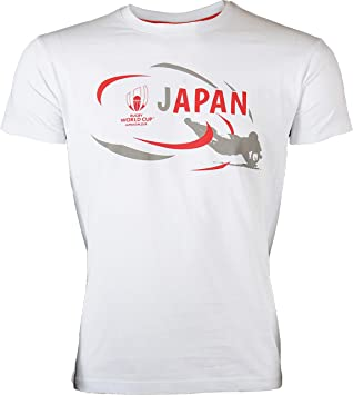 Camiseta Japón - Copa del Mundo de Rugby 2019 - Colección Oficial de la Copa del Mundo de Rugby - Tamaño para Hombre: Amazon.es: Deportes y aire libre