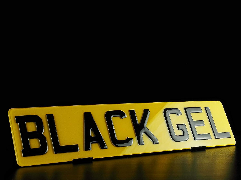 The Car Mod Place 3D Gel plates Piano Black High gloss