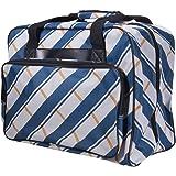 Janome Blue Plaid Universal Sewing Machine Tote Bag