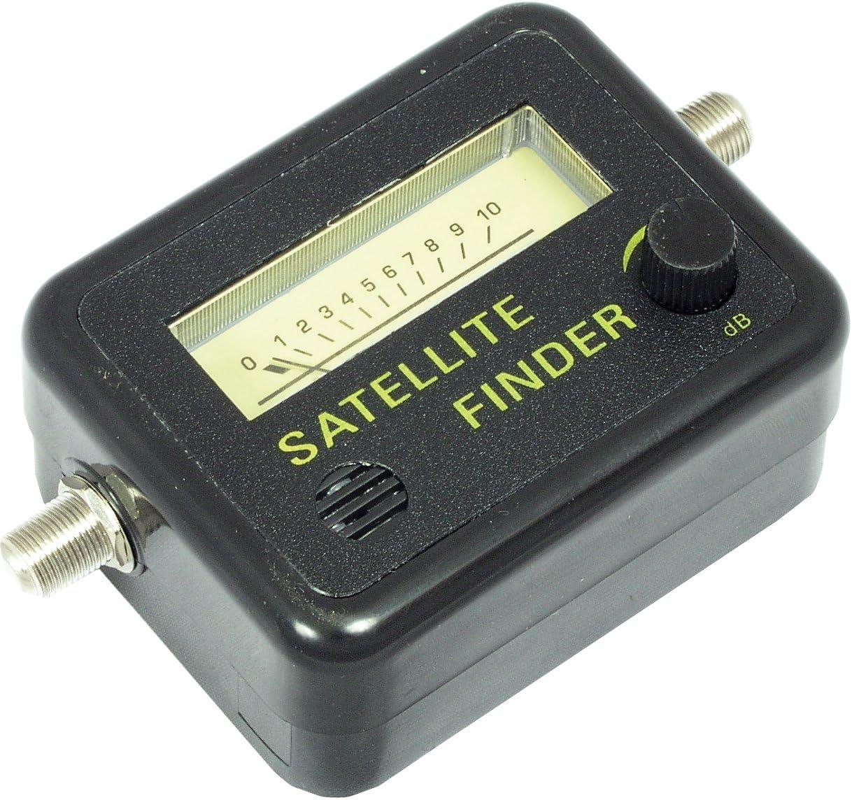 Metronic 450003 Buscador, localizador de satélites acústico, Negro, Pequeño