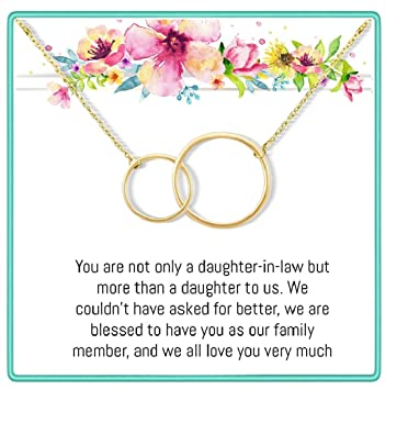 Amazon Onepurposegifts To My Daughter In Law Gifts Set Rose Gold And Silver Necklace For Birthday Christmas Valentine Days Jewelry