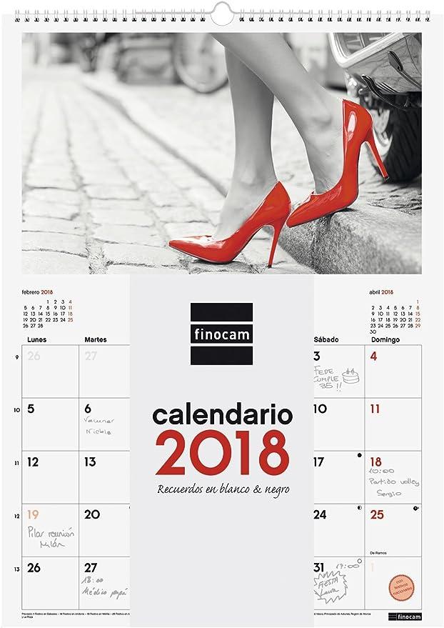 Finocam Recuerdos B&N - Calendario de pared 2018, espiral, español ...