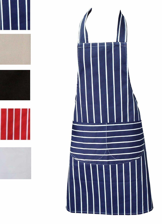 Amazon.com: Chefs Apron, Blue, Kitchen Apron for Men and Women ...