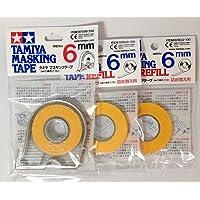 Tamiya Cinta de carrocero de 6 mm con 2 recambios, Basic Pack