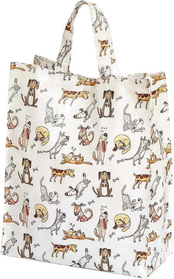 Bolsa de la Compra, Reutilizables con Divertido Diseño de Perros, 40 cm x 32 cm x 13 cm, Regalo para las Mujeres y los Amantes de los Perros