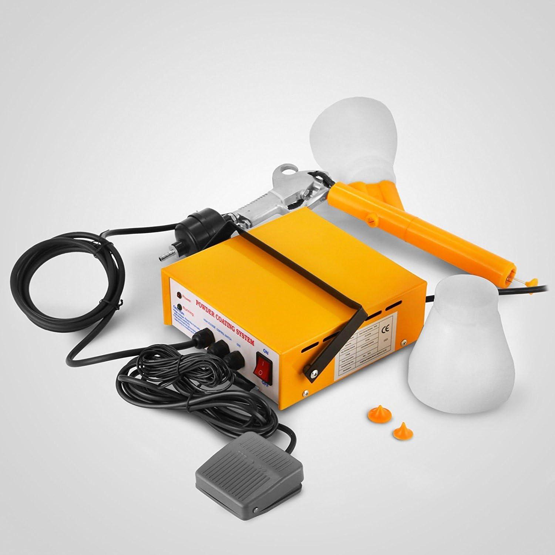 Tecmaqui Mini Sistema de Revestimiento en Polvo con Pistola de Pintura Portátil sistema de Pulverización con Electricidad Estática Pistola de Pulverización de PC03-5