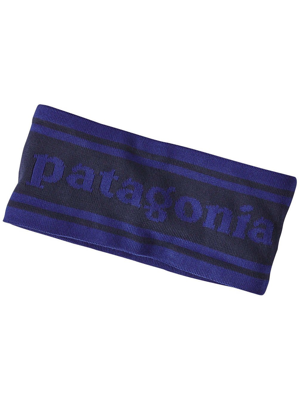 Patagonia Women's Lined Knit Headband (One Size Fits All, Park Stripe Band/Navy Blu)