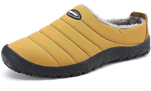 Zapatillas de Estar por Casa Hombre Cálidas Zapatos con Forro Mujer Invierno Impermeable Pantuflas para Exterior e Interior Talla 36-48 EU: Amazon.es: ...