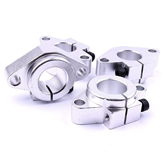 CHEERBRIGHT 4 Pieces SHF Aluminum Linear Bearing Rod Rail Shaft Support Motion 8mm, 12mm, 16mm, 20mm