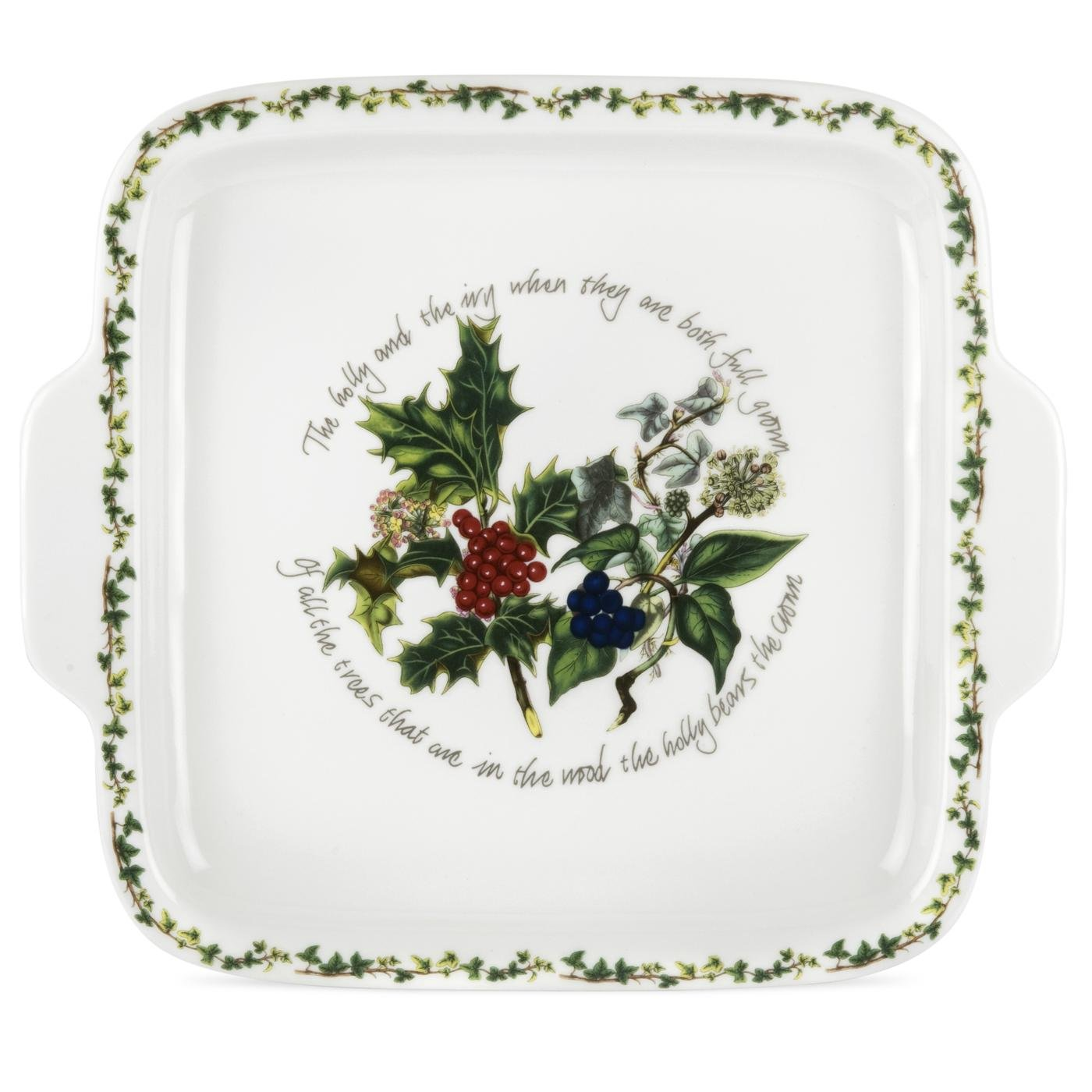 Portmeirion The Holly & The Ivy Dessert Dish Square Handled HV78044-X