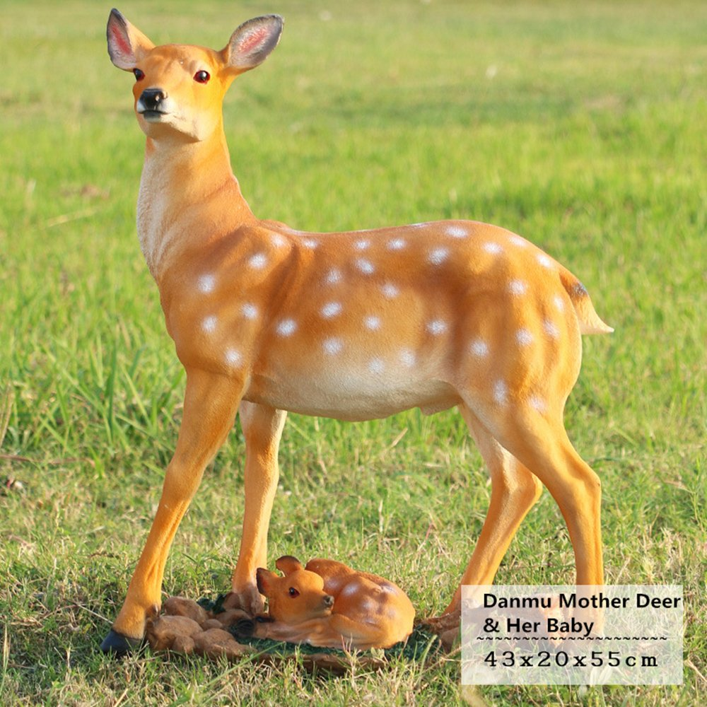 Danmu 1pc FRP Deer Statue Home Garden Decor (43 x 20 x 55cm)