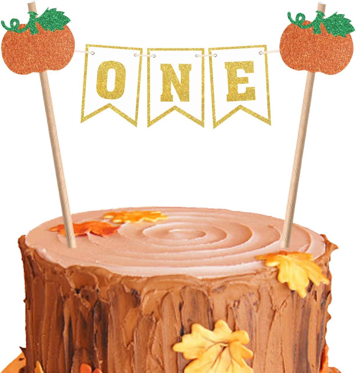 Pumpkin Cake Topper First Birthday Rustic Banner 1st Cake Topper One Cake Topper Pumpkin Burlap Cake Topper Topper Cake Topper