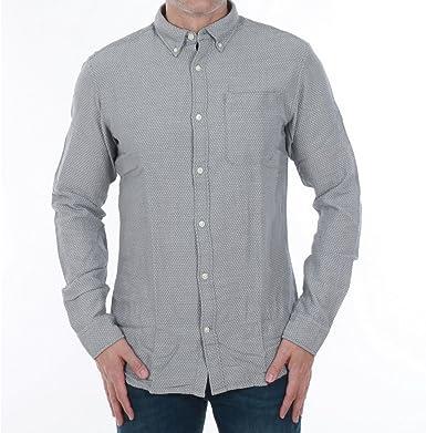 JACK & JONES Jprclassic Print Shirt L/s One Pocket Camisa, Multicolor (Cool Grey Fit:Slim), Small para Hombre: Amazon.es: Ropa y accesorios