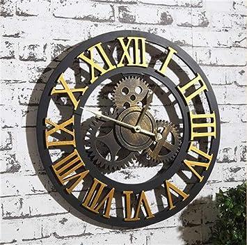 LKOPSLA Creative Octogonal Dormitorio 3D Silencio Reloj Réplica Relojes de Pared Reloj de Pared Adhesivo para Salón Dormitorios Oficina: Amazon.es: Deportes ...