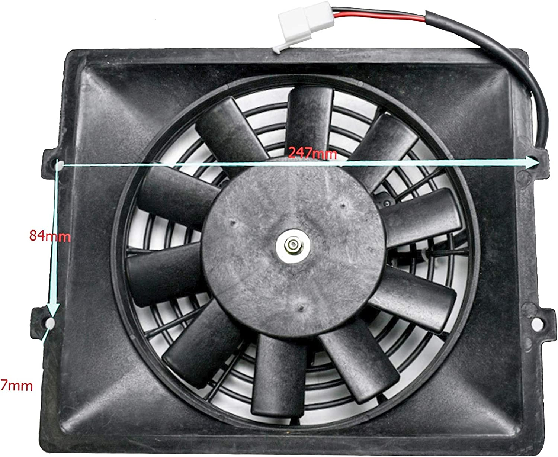TDPRO 12V Electric Radiator Cooling Fan for ATV Quad Buggy Engine 4 wheeler Go Kart