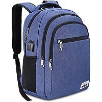 16 Farben 15.6/17.3 Zoll Laptop Rucksack Daypack Schule Rucksack mit USB-Ladeanschluss für Herren und Damen,Wasserdicht,35L-40L