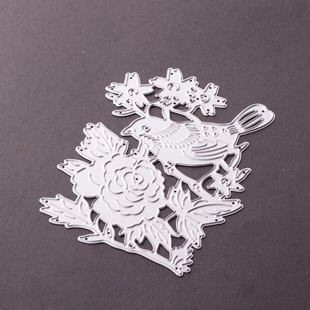 Silver yanQxIzbiu Cutting die 3D Cutting Dies Stencil DIY Album Paper Card Scrapbooking Card Embossing Craft