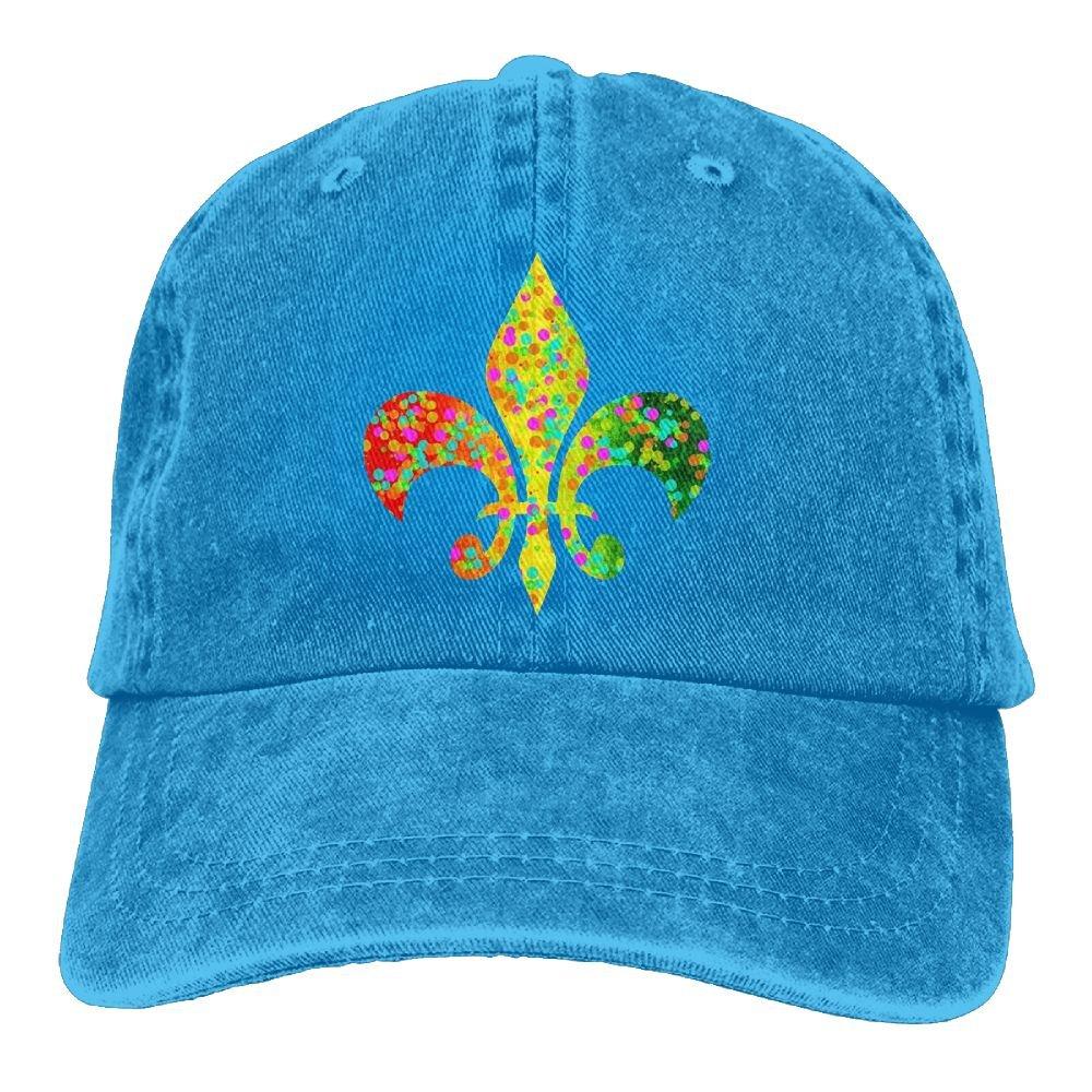 Fleur De Lis Mardi Gras Parade Adult New Style COWBOY HAT