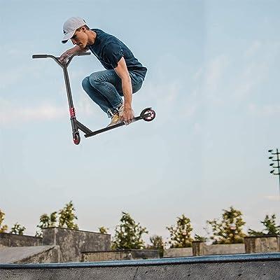 Details about  /Caroma Complete Aluminum Stunt Kick Scooter Tricks Skatepark BMX Handlebar Adult