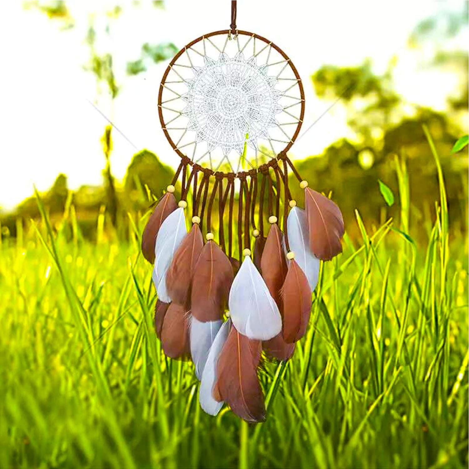 NXGEN Dream Catcher Handmade Traditional Feather Dream Catcher for Wall Hanging Home Decoration Ornament Craft Gift