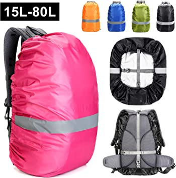Waterproof Backpack Rain Cover Upgraded AntiSlip Buckle Strap Strengthened Layer