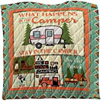 3D Printed Blanket, Hamkaw All-Season Camping Blanket Quilt for Traveling, Picnics, Beach,Air Conditioning, Home Decoration