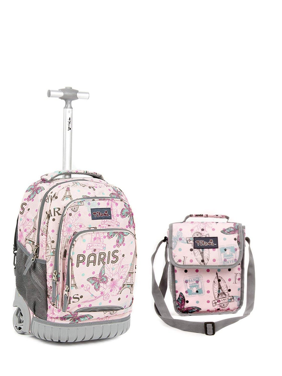 554ed03c0675 Tilami New Antifouling Design 18 Inch Wheeled Rolling Backpack Luggage and  Lunch Bag