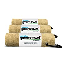 """Microfiber Greens Towel (3 Pack), 16"""" X 16"""" with Carabiner Clip. """"The Convenient Golf Towel"""""""