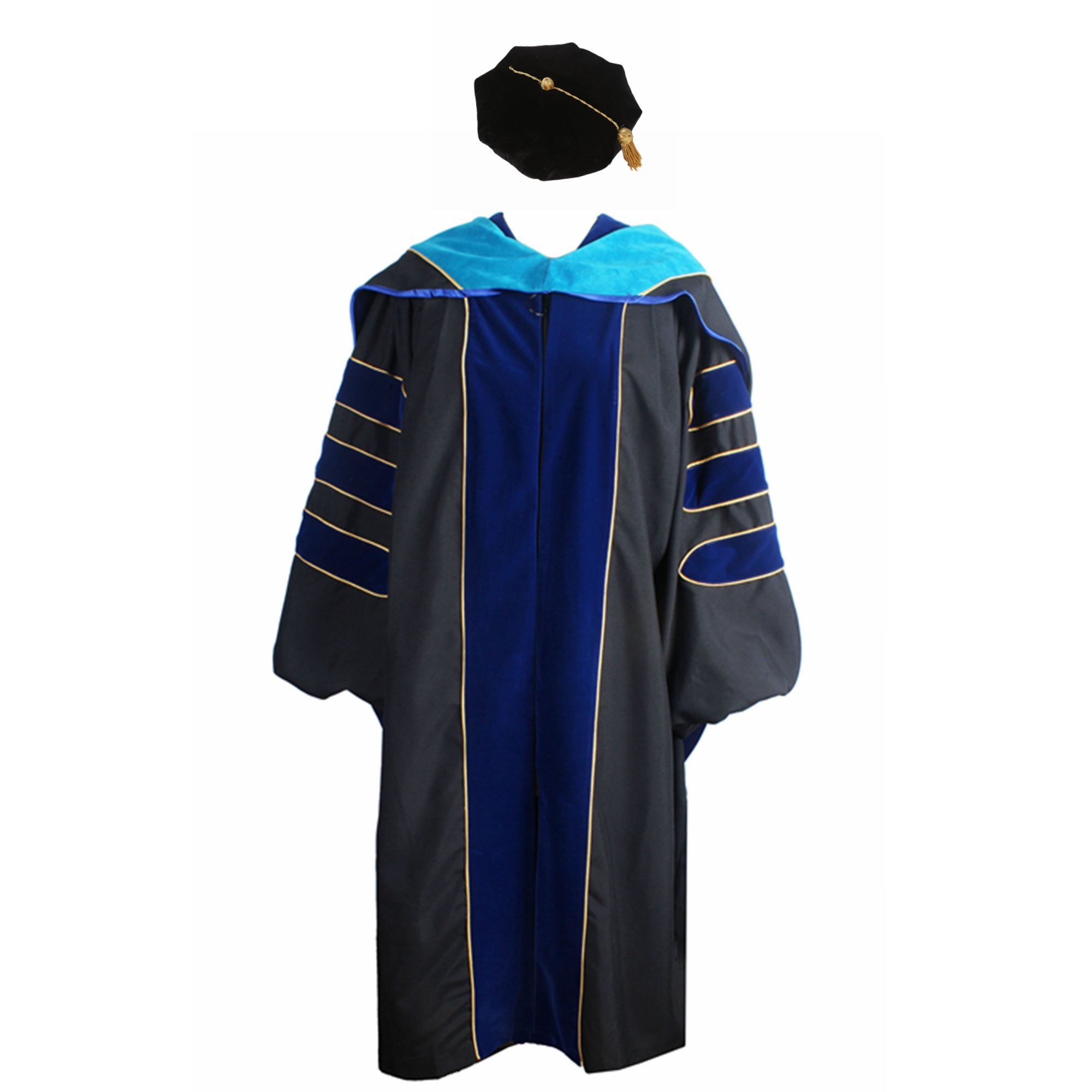 GraduationService Deluxe Doctoral Graduation Gown,Hood and Tam Package Unisex by GraduationService