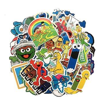 QTHZL Pegatina 50Pcs / Lot Sesame Street Suitcase Impermeable De ...