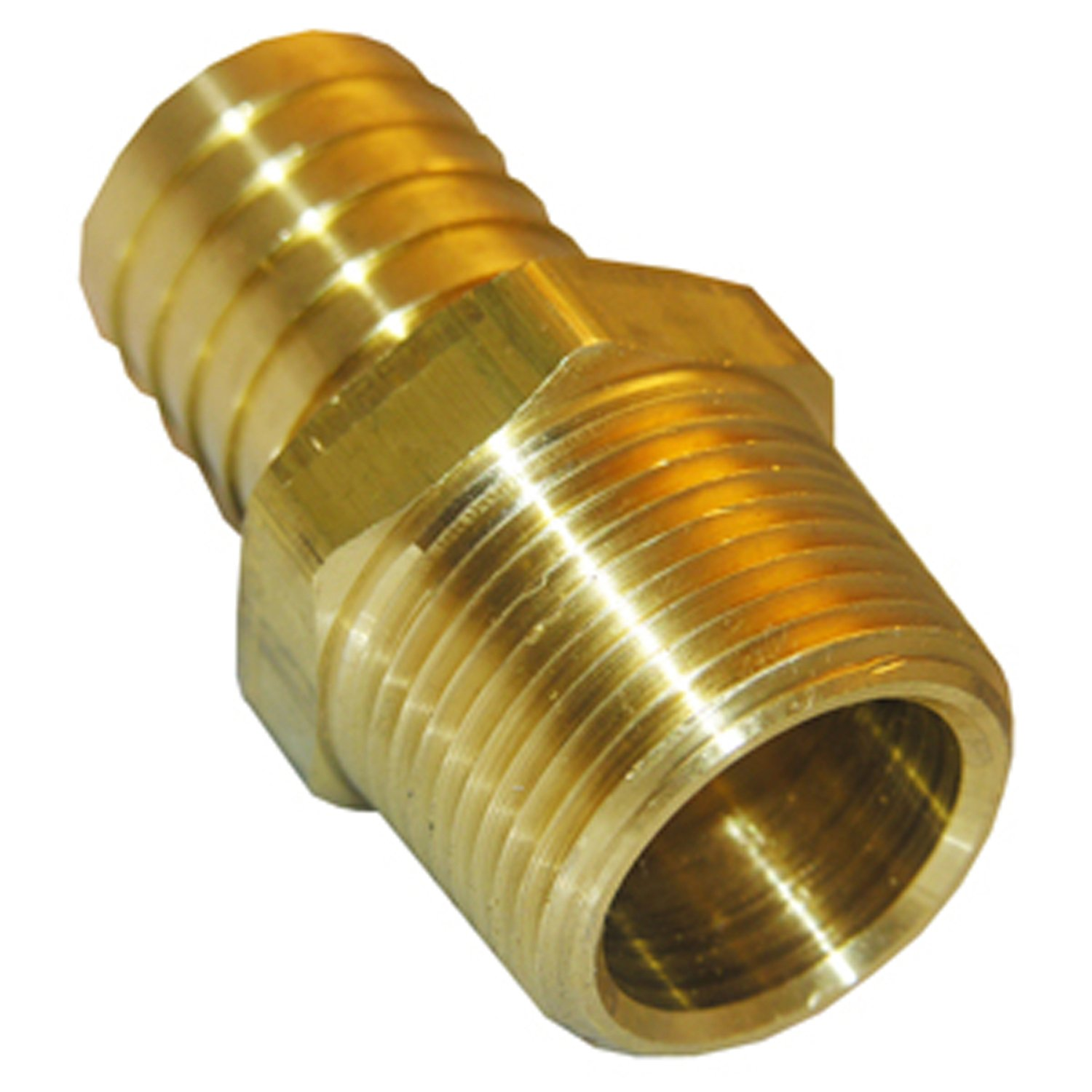 LASCO 17-7709 1//8-Inch Male Pipe Thread by 3//8-Inch Hose Barb Brass Adapter