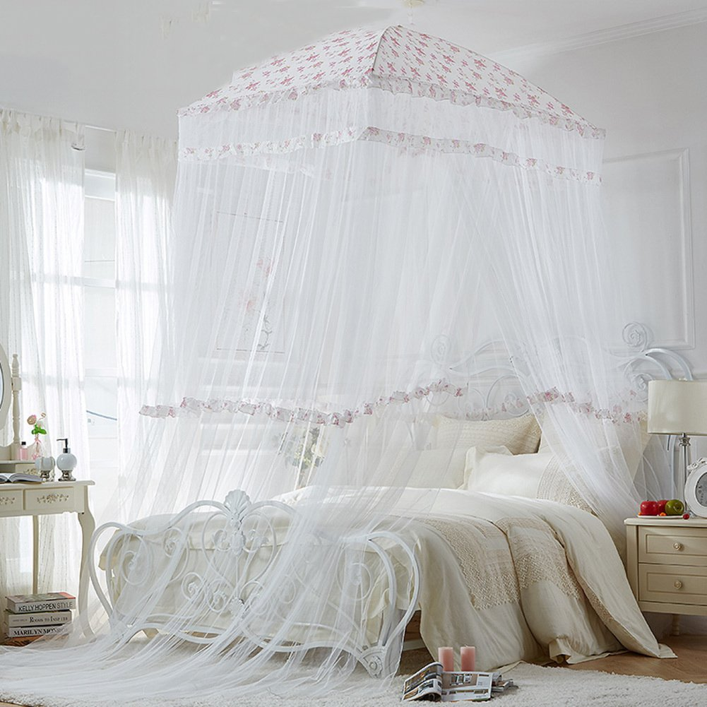 Circular dome bed canopy,Home Princess wind Court Double Premium mosquito net-B Full-size