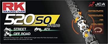 RK Racing Chain 520-SO-80 80-Links O-Ring Chain with Connecting Link