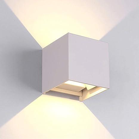 Led Apliques De Pared Modernos En Acero Impermeable Ip65 Lamparas Para Dormitorios Salon Comedor Jardín De Lluminación De Exterior Y Interior