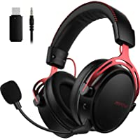 Mpow Air Wireless Gaming Headset - PS4 Headset with Double Chamber Drivers, Detachable Noise Cancelling Microphone, Memory Foam Gaming Headphone