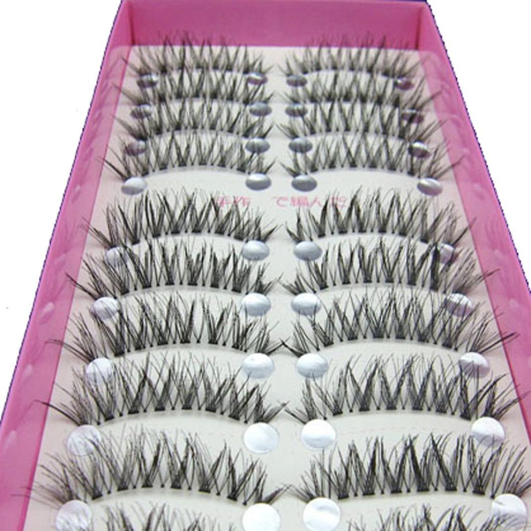 Chartsea Japanese Style Black 10 Pairs Eyelashes (Black) by Chartsea (Image #3)