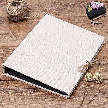 JJIAO Álbum de Fotos Libro de Recuerdos DIY Scrapbook Boda ...