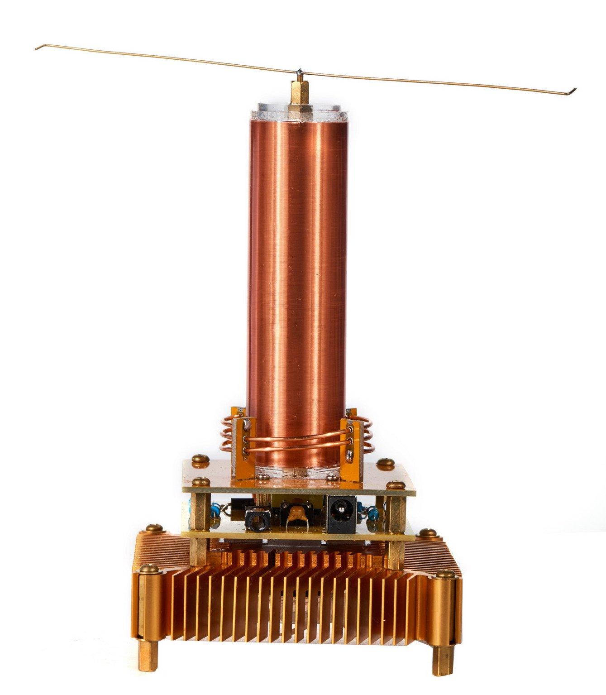 Joytech Music Tesla Coil Acrylic Base Shell Arc Plasma Loudspeaker Wireless Transmission Experiment Desktop Toy Model (YS01) by Joytech (Image #4)