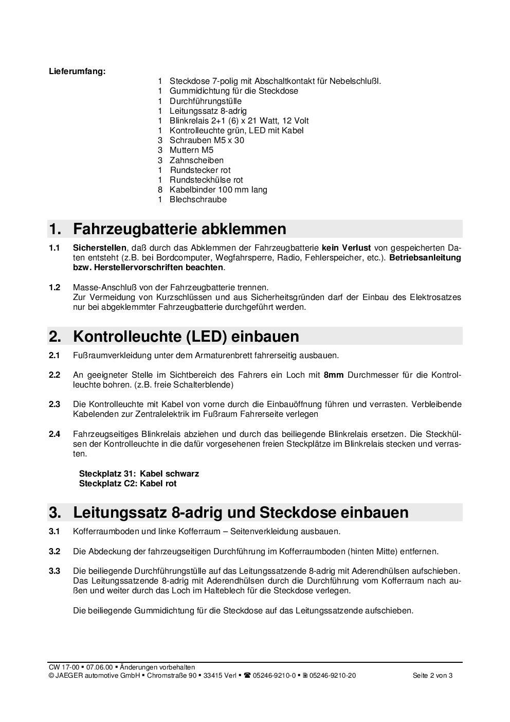 Nett 7 Poliger Anhängerstecker Kabelplan Ideen - Der Schaltplan ...