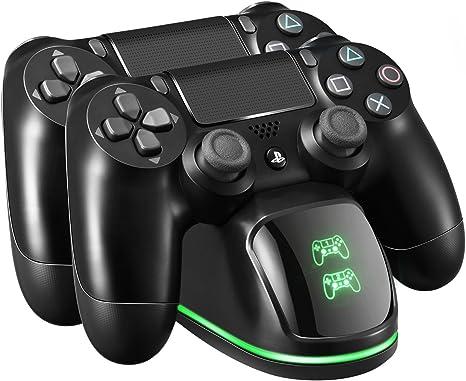 PICTEK Cargador Mando PS4, Soporte Mando ps4 USB con LED Indicador, Estación de Carga ps4, Compatible con Playstation4, PS4, PS4 Pro, PS4 Slim (Cable80CM): Amazon.es: Videojuegos