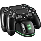 PICTEK Cargador Mando PS4, Soporte Mando ps4 USB con LED Indicador, Estación de Carga ps4, Compatible con Playstation4…