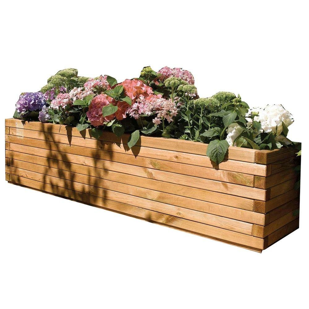 Bosmere English Garden 70 in. W x 15 in. D x 15 in. H Over-Sized Rectangular Wood Planter