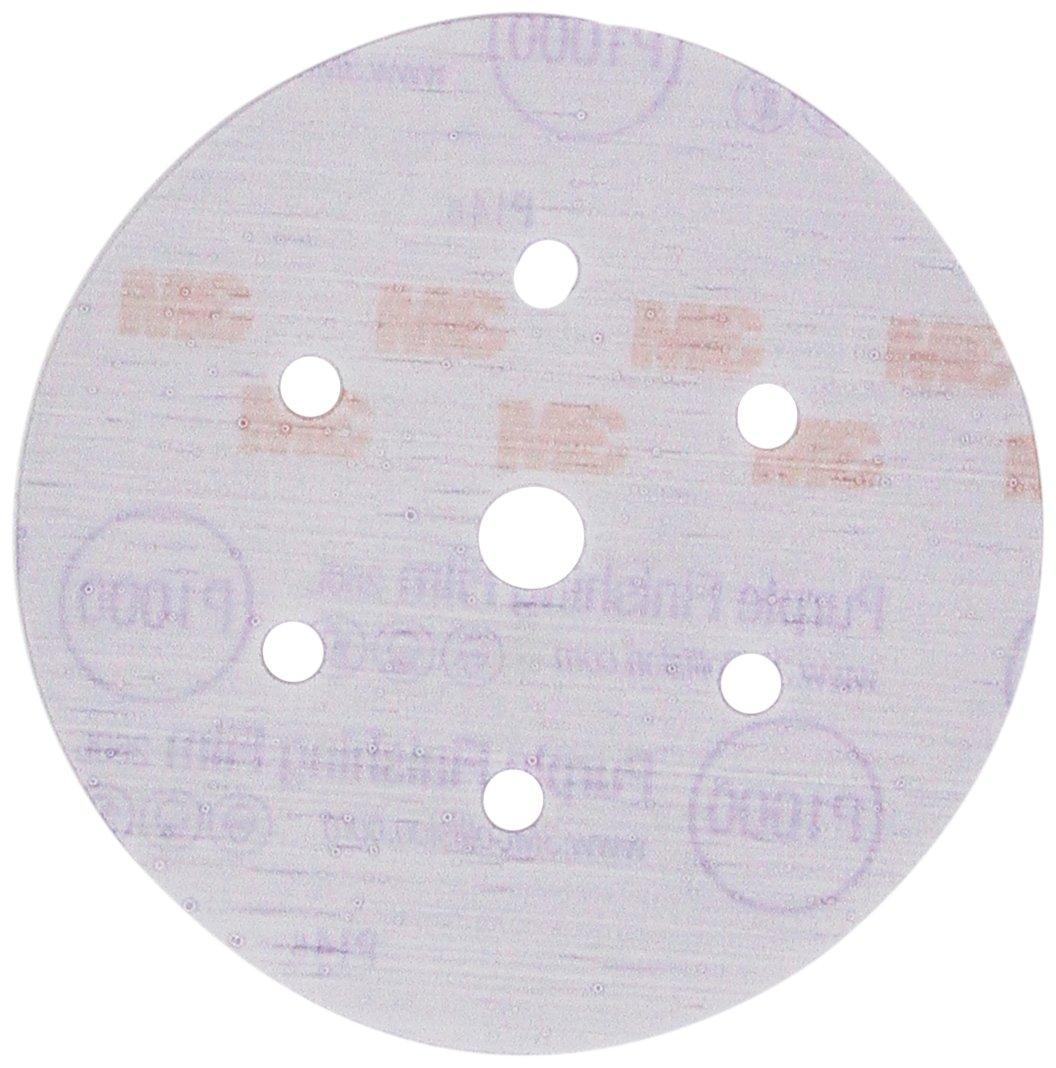 3M 30769 Hookit Purple 6'' P1000 Grit Dust-Free Finishing Film Disc by 3M (Image #2)
