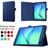 Asng Samsung Galaxy Tab A 8.0 2015 Case - Slim Folding Cover Case with Auto Wake/Sleep and Stylus Pen Loop for Galaxy…