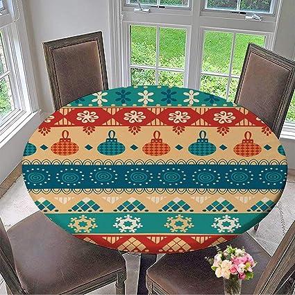 amazon com mikihome elasticized table cover tribal seamless rh amazon com elasticated table cover waterproof elasticized table covers round